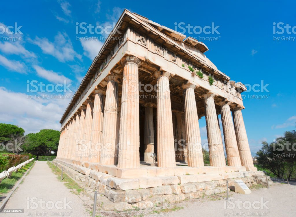 Agora of Athens, Greece stock photo