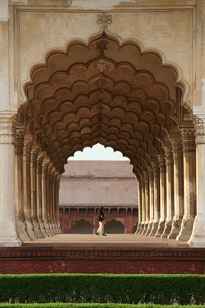 Agra Fort Archway stock photo