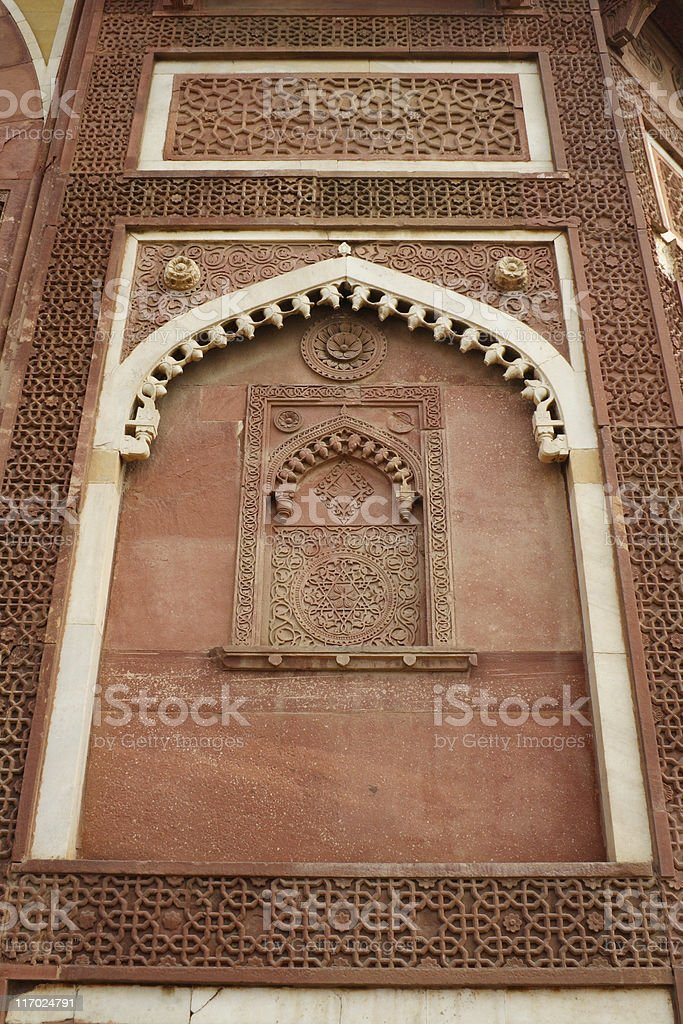 Agra fort details 1 royalty-free stock photo