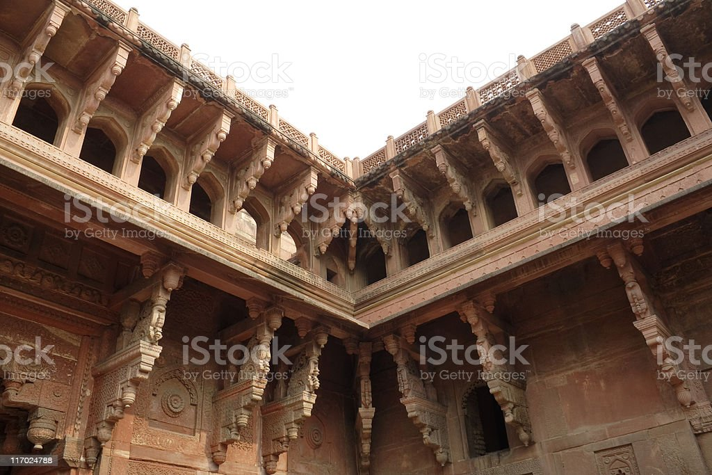 Agra fort details 2 royalty-free stock photo
