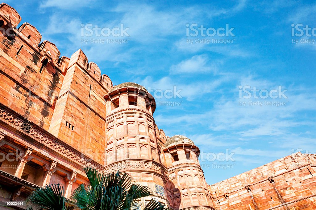 Agra Fort in Agra, India stock photo