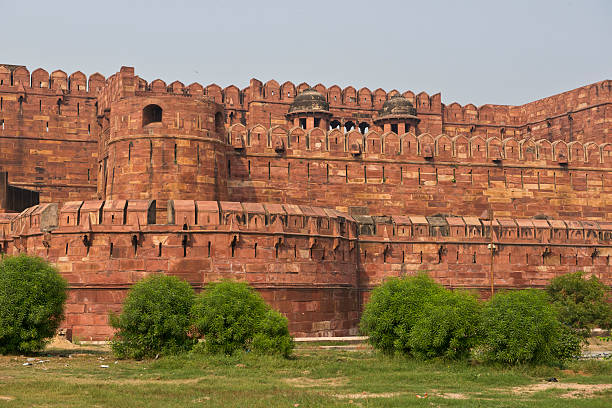Agra Fort The red Agra Fort, home of the  Moghul Emperors, Now an Unesco world heritage site. artistical stock pictures, royalty-free photos & images