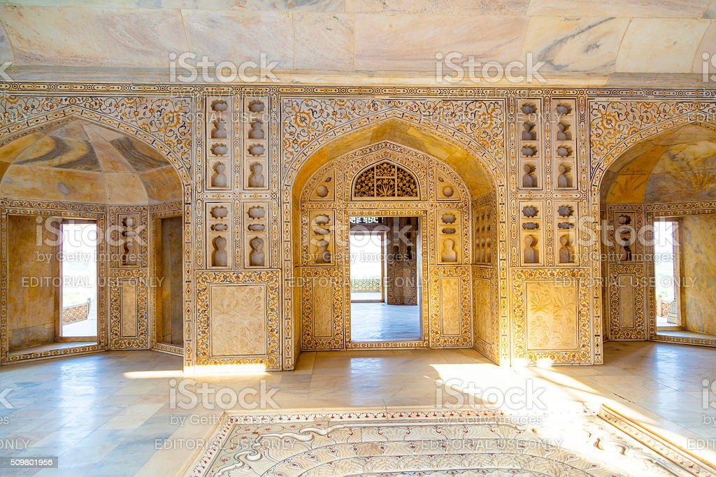 Agra Red Fort, a Unesco World Heritage site stock photo