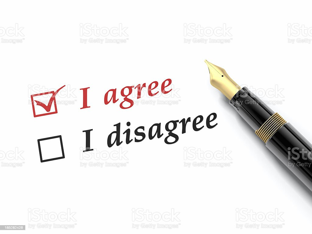 I Agree Disagree royalty-free stock photo