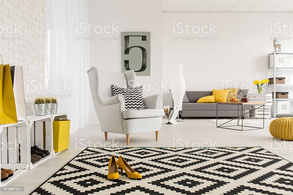 Agreeable place to rest a bit after an office day stock photo