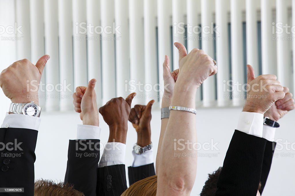 Agreeing team royalty-free stock photo