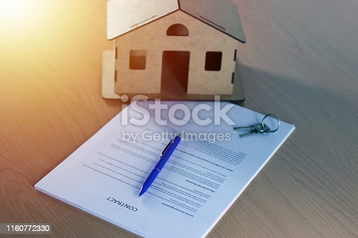 828544458istockphoto Agreement For New House 1160772330