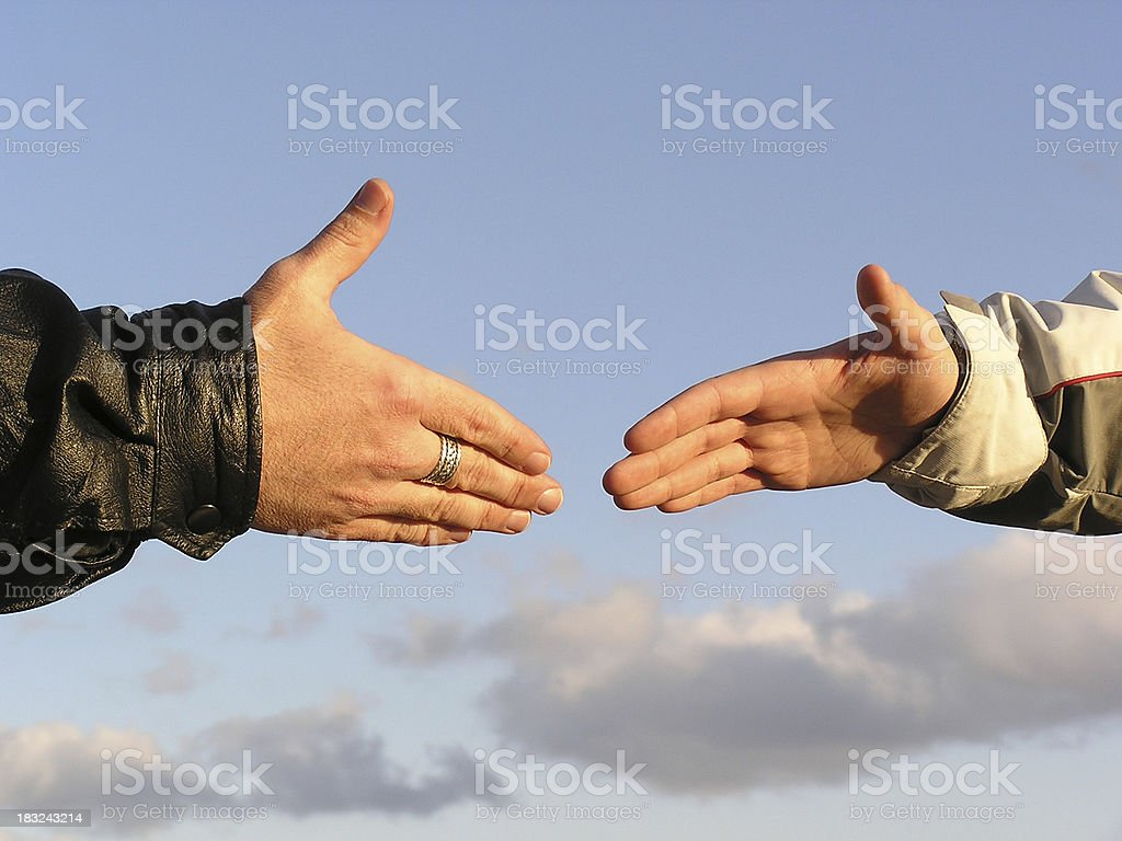 Agreement Handshake or Reaching Out 2 royalty-free stock photo