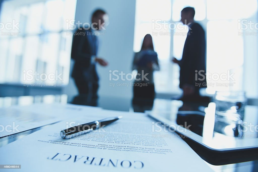 Agreement of partnership stock photo
