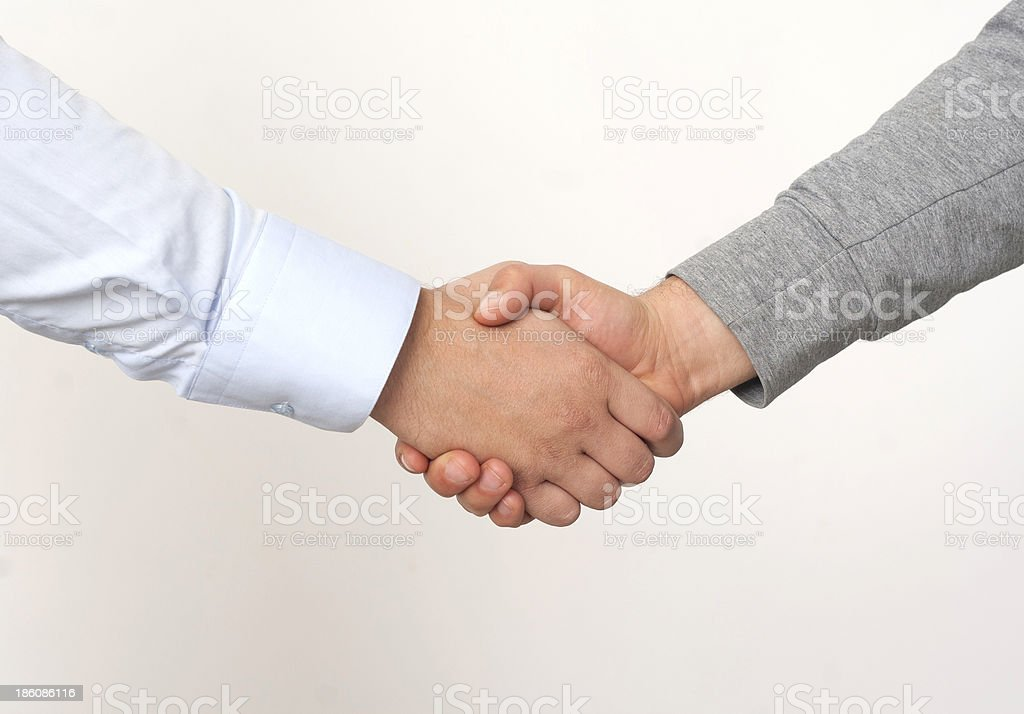 Agreement of success stock photo