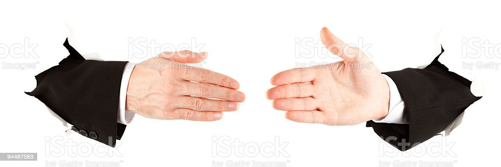 agreement on white royalty-free stock photo