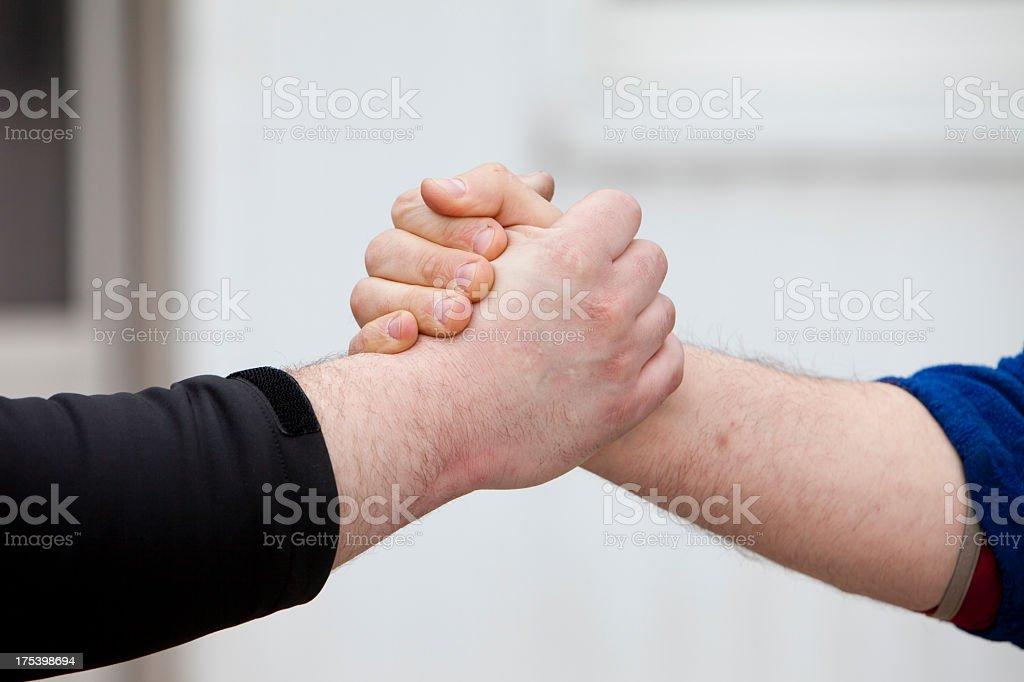 Agreement Power Jock Handshake stock photo