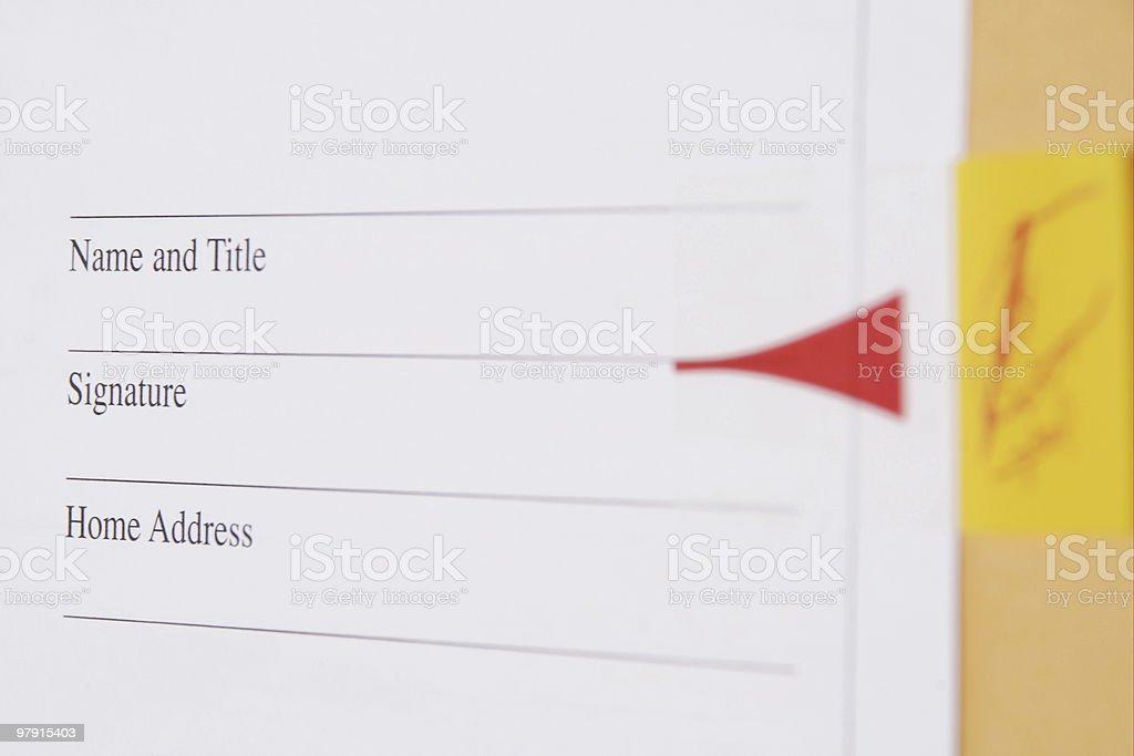 Agreement signature royalty-free stock photo