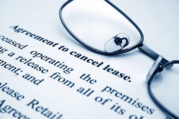 vereinbarung vor, leasing - kündigung arbeitsvertrag stock-fotos und bilder