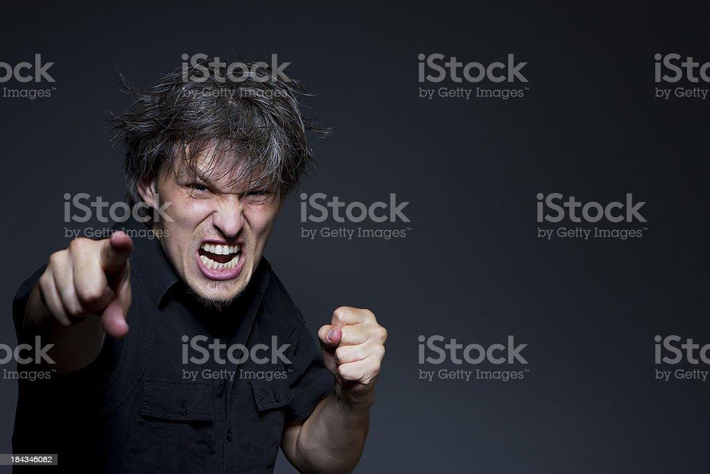 Agression stock photo