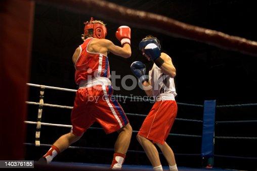 istock Agressive boxing fight 140376185