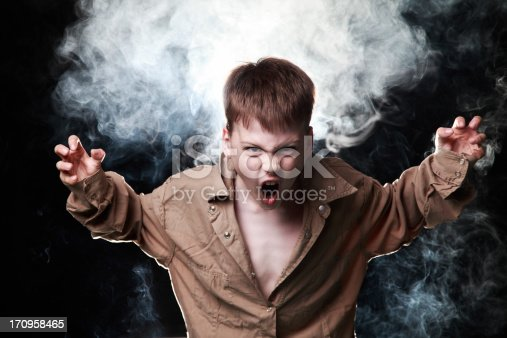 istock Agressive child 170958465