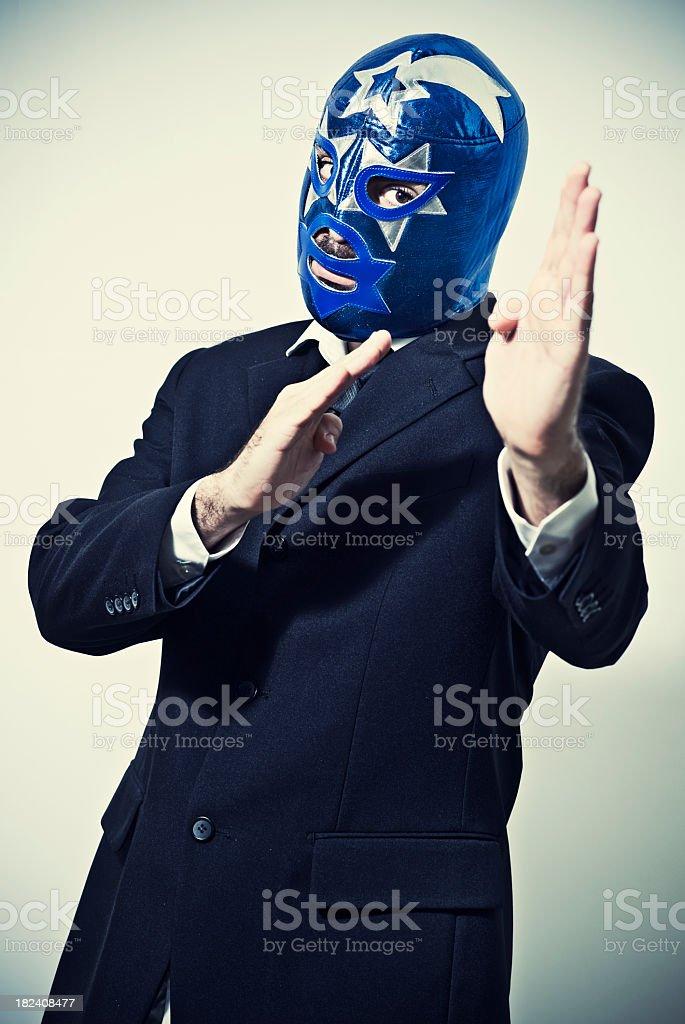 Agressive executive stock photo
