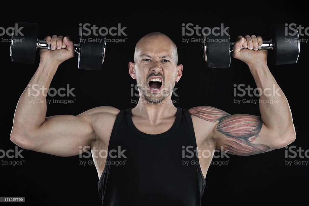 Agressive Exercise stock photo