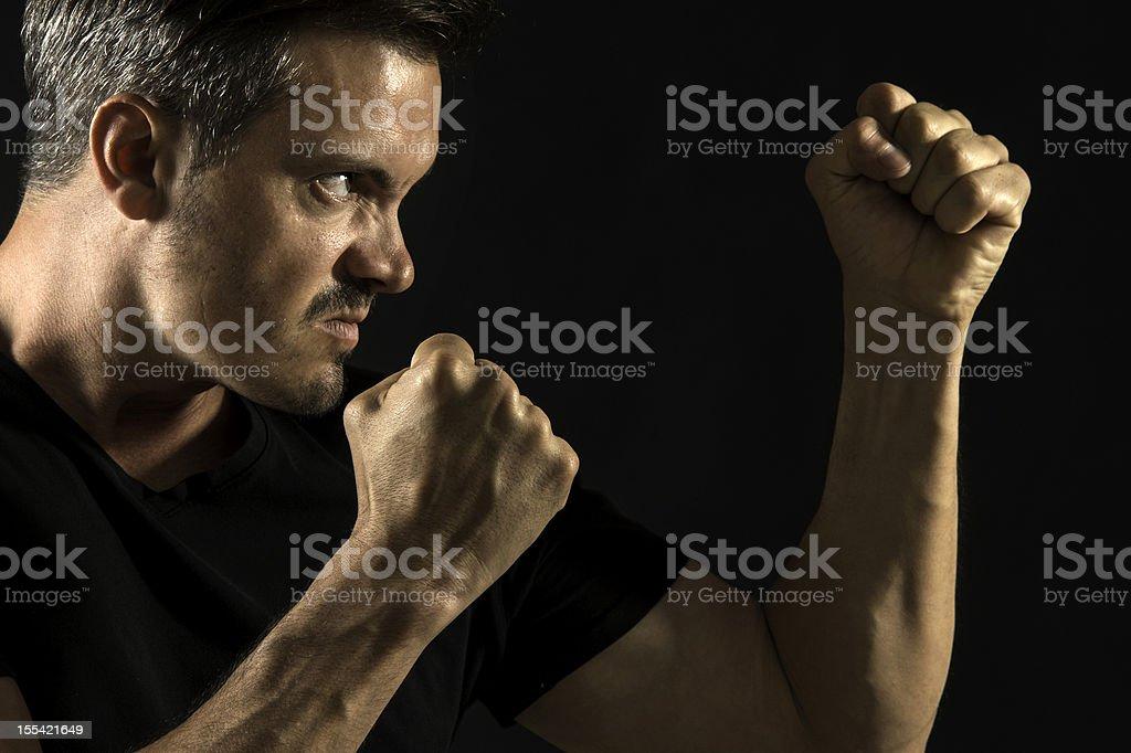 Agressive man stock photo