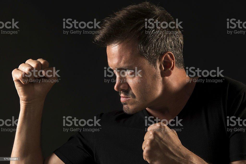 Agressive man royalty-free stock photo