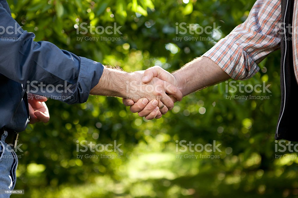 Agricultural agreement stock photo