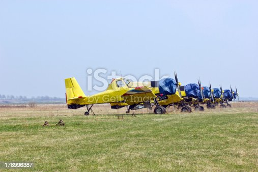 927641110 istock photo Agricultural and extinguishing aircraft squadron 176996387