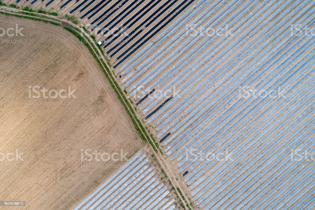 Área agrícola - vista aérea - foto de stock