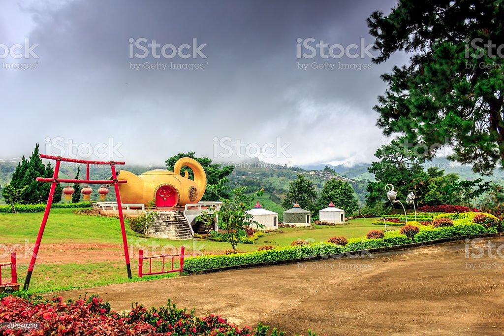 Agricultural Center - Doi Mae Salong, Thailand foto royalty-free