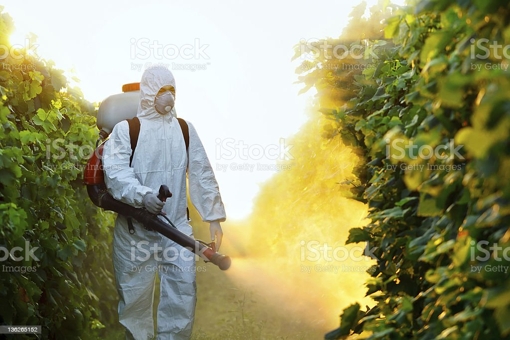 Agricultural chemistry stock photo