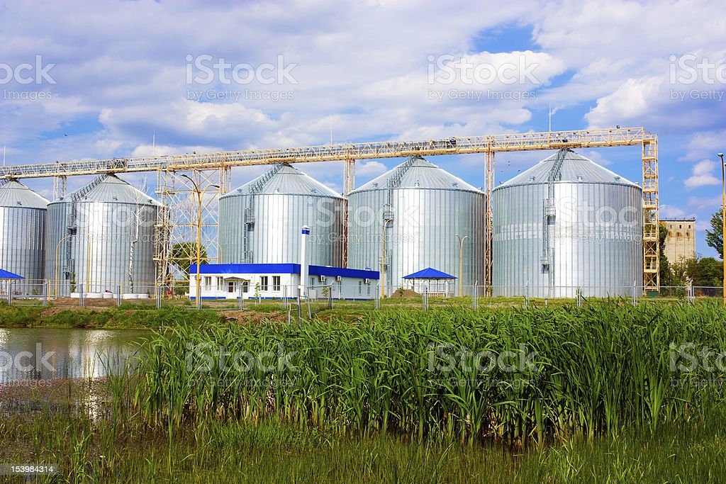 Agricultural elevator royalty-free stock photo