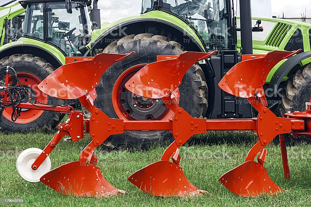 Agricultural equipment. Detail royalty-free stock photo