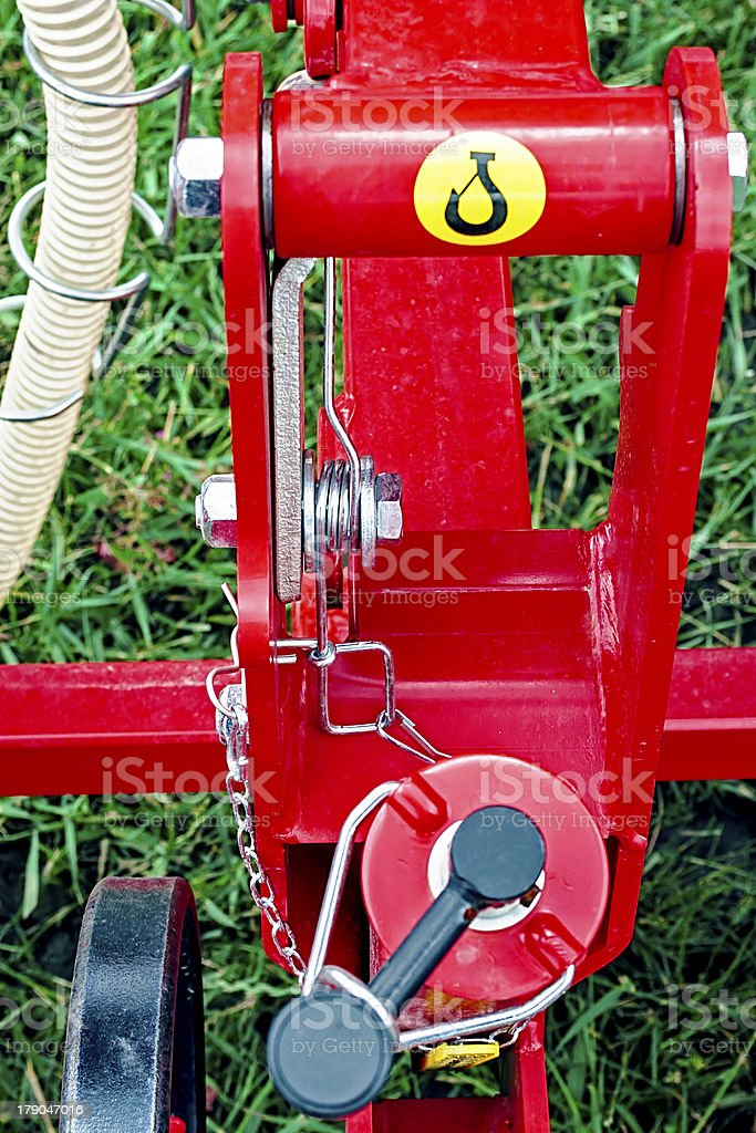 Agricultural equipment. Detail stock photo