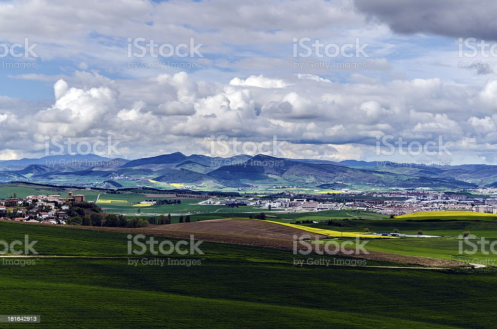 Agricultural field royalty-free stock photo