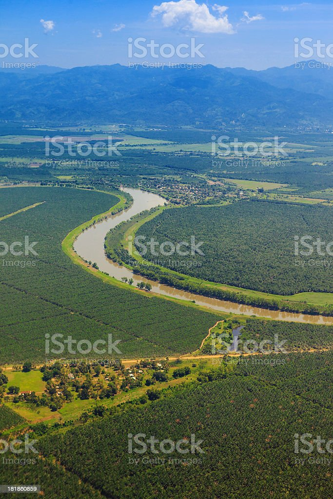 agricultural fields stock photo