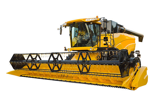 Agricultural harvester stock photo