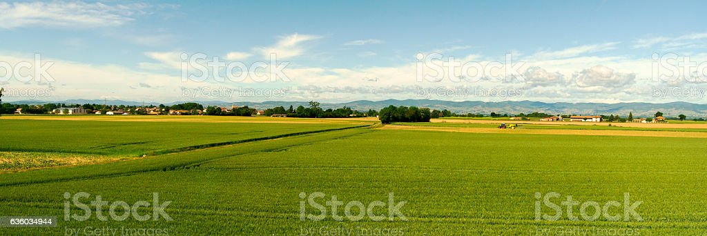 Agricultural Land in France stock photo