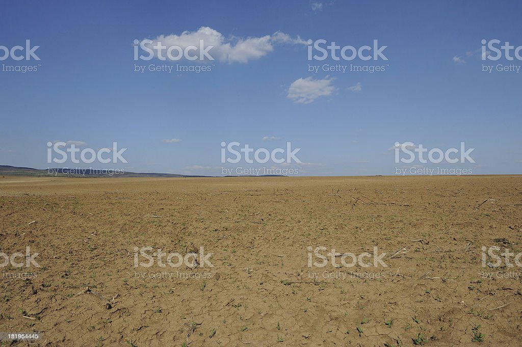 Agricultural land royalty-free stock photo