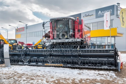 171320236 istock photo Agricultural machinery exhibition. Tyumen. Russia 483859501