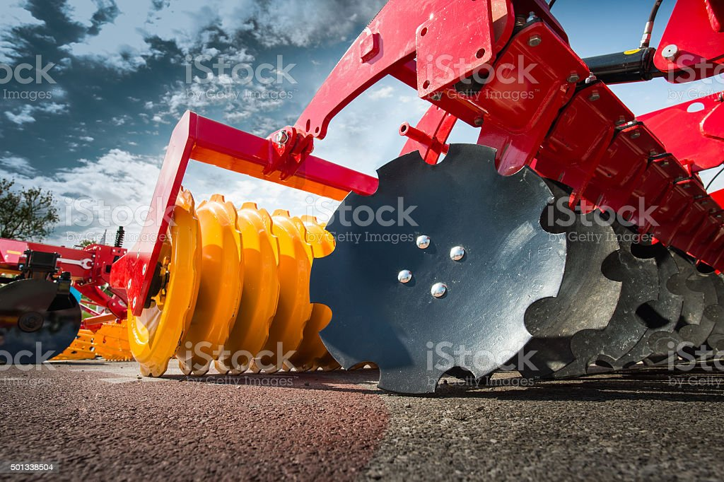 Agricultural machinery in fair stock photo