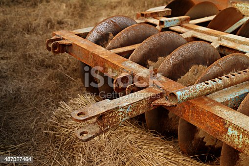 Old and rustic agricultural machinery (Harrow).