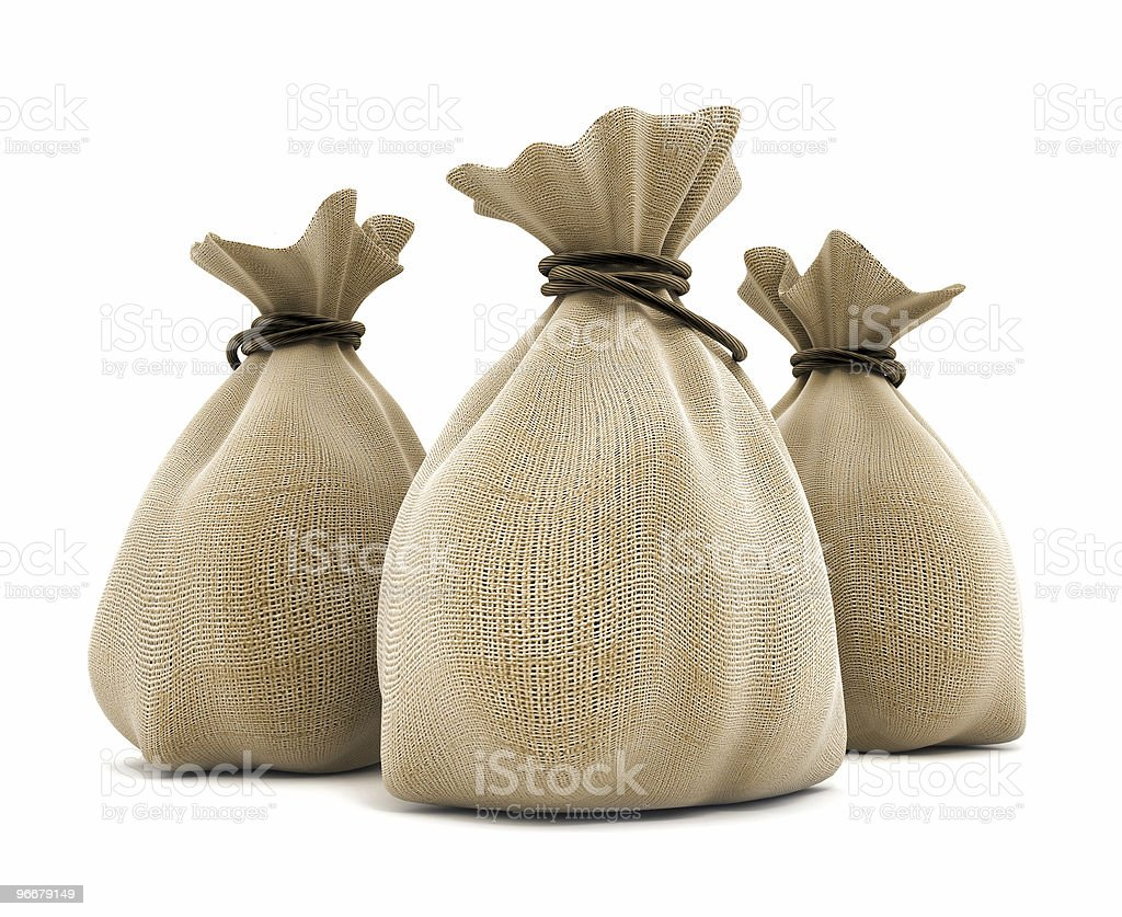 Agricultural sacks royalty-free stock photo