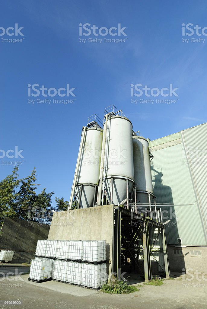 Agricultural silos royalty-free stock photo