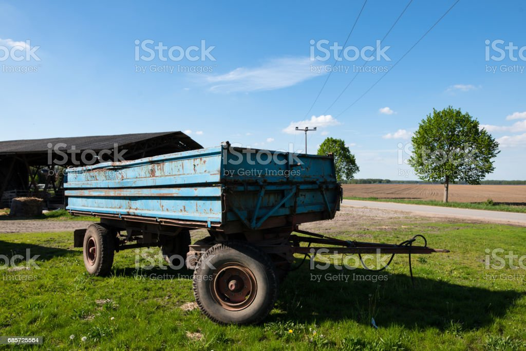 Agricultural trailer foto de stock royalty-free
