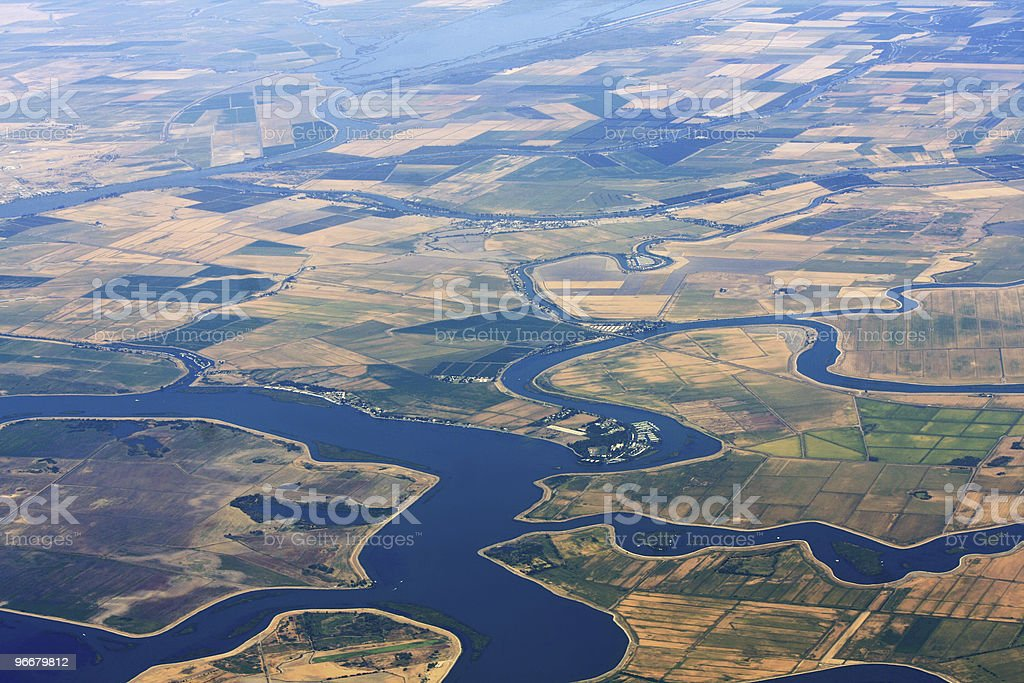 Agriculture Aerial View royalty-free stock photo