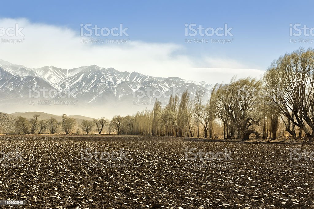 Agriculture and mountain royalty-free stock photo