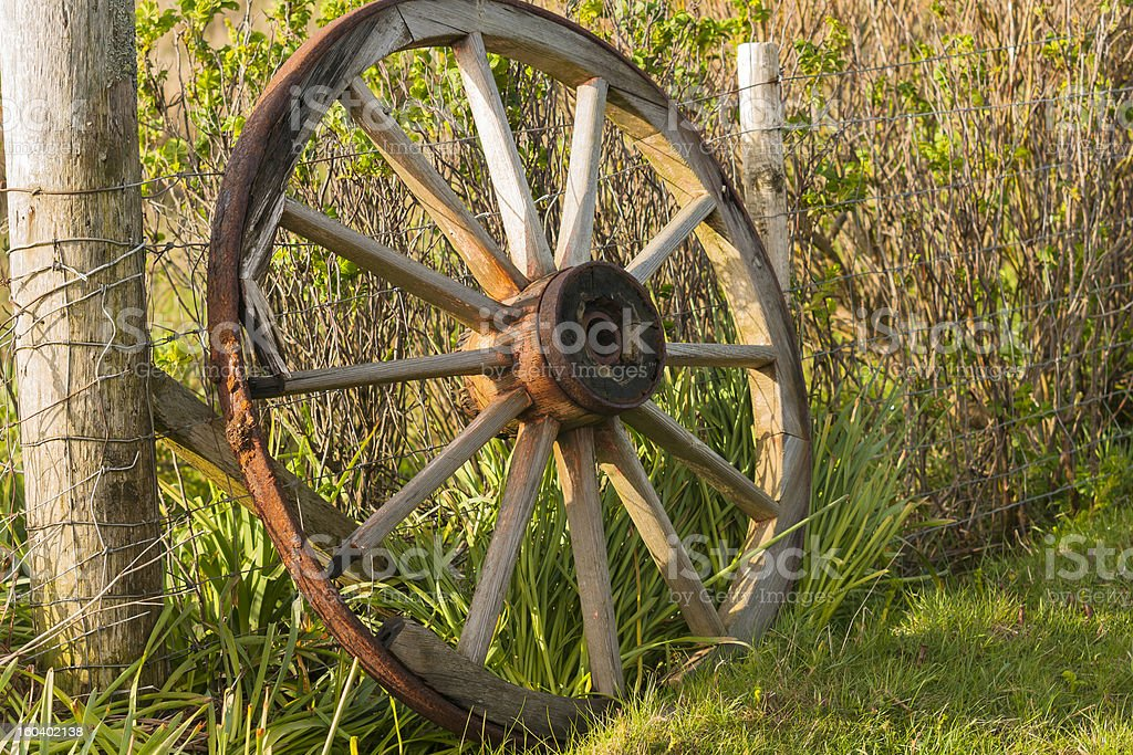 Agriculture, Cart wheel, abandoned royalty-free stock photo