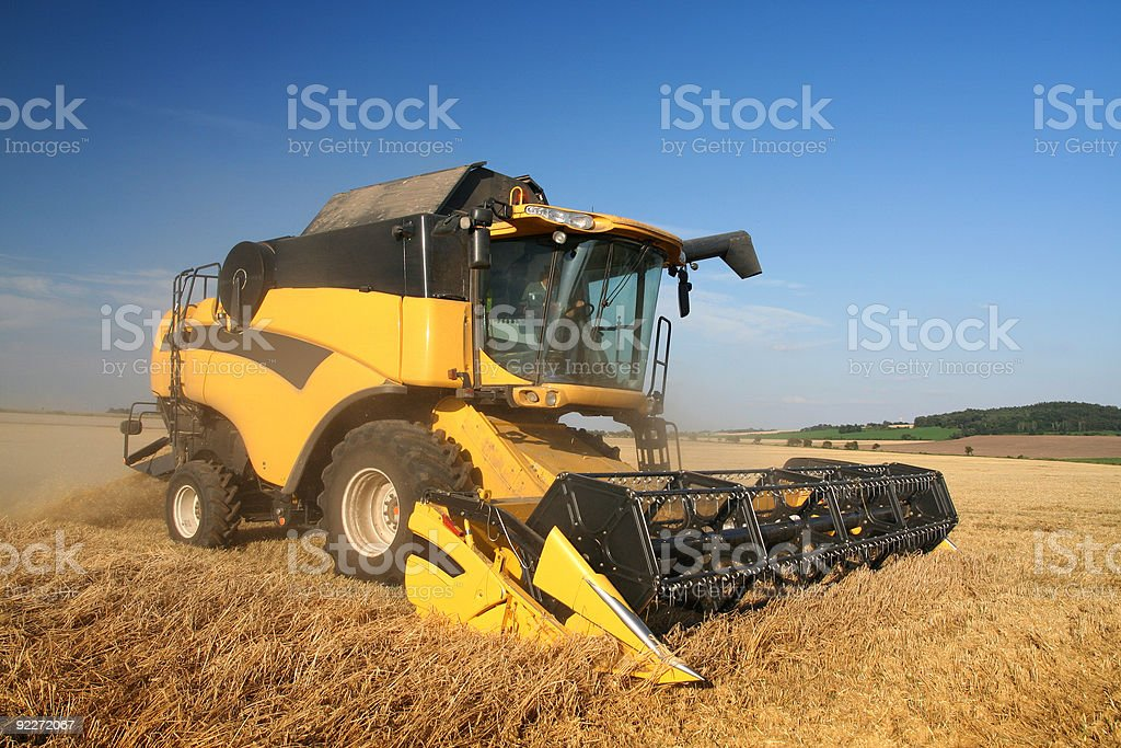 Agriculture - Combine royalty-free stock photo