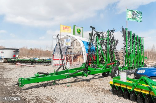 171320236 istock photo Agriculture equipment on exhibition 484227673