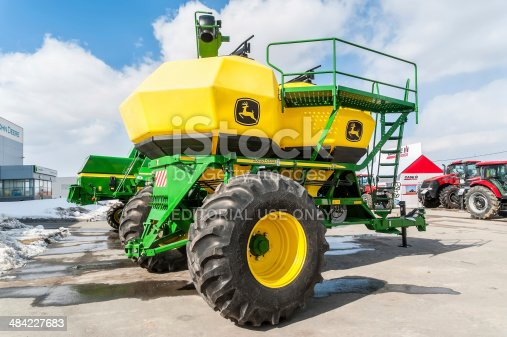 171320236 istock photo Agriculture equipment on exhibition. Tyumen 484227683